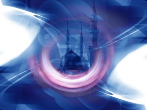 53high-690x517-Light streaks Islamic Wallpaper