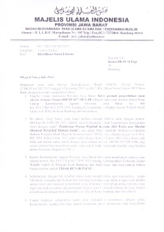 Surat MUI Jabar-Klarifikasi SE_0001